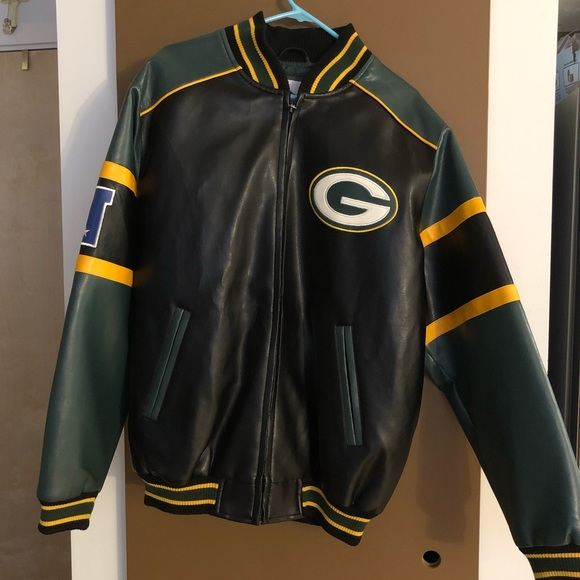 NFL Jackets & Coats   Mens Green Bay Packers Polyvinyl Jacket   Poshmark  hot sale